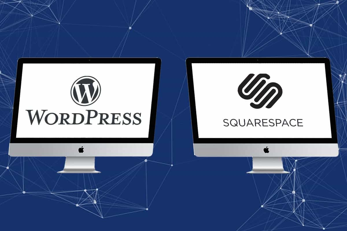 wordpress and squarespace hero image
